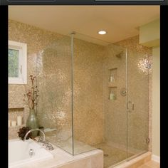 Another example on bench via bath for the small on-suite bathroom