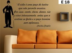 Adesivo Decorativo De Parede Charlie Chaplin Sala
