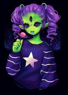 Alien Girl by on DeviantArt Alien Character, Character Art, Character Design, Alien Tattoo, Alien Drawings, Art Drawings, Owl Tattoo Drawings, Fantasy Kunst, Fantasy Art