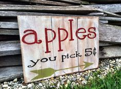 Apple Harvest Time by Nena on Etsy Apple Harvest, Fall Harvest, Harvest Time, Seasonal Decor, Fall Decor, Rustic Wooden Box, Apple Farm, Thanksgiving Signs, Apple Decorations