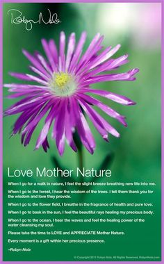 """In honor of Earth Day. ♥ """"Love Mother Nature"""" by Robyn Nola"""