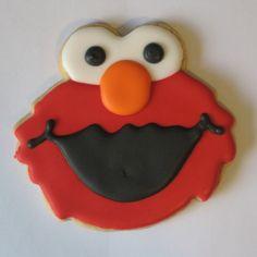 Elmo Cookies - for Nancy! Elmo Cookies, Cute Cookies, Cupcake Cookies, Sugar Cookies, Cupcakes, Cookie Icing, Royal Icing Cookies, Cookie Cutters, Elmo Party Supplies
