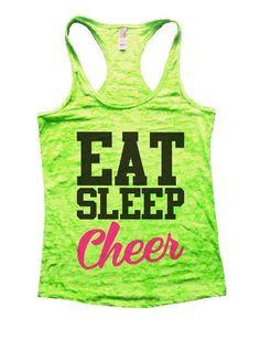Eat Sleep Cheer Burnout Tank Top By Womens Tank Tops