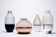 Stunning vases by Jamie Haydon from his Grid Vase Collection for Gaia & Gino.