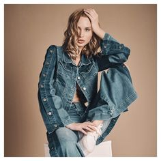 Denim Revival   Make a statement in luxury denim. Explore our new arrivals available online & in-stores.  #AnneFontaine #SS20 #Cruise2020 #NaturalBeauty #Denim Cruise Collection, Summer Jeans, Out Of Style, Parisian, Going Out, Highlights, Black And White, Denim, Luxury