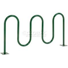 "5 Bike Wave Green Flange Mount by Global Industrial. $79.00. Wave Bike Racks Flange Mounted Use this flange mounted style for existing cement. Rugged 12 gauge steel keeps bicycles secure and ensures years of use. Designed without sharp edges for safety. Polyester powder coat finish withstands the elements. 36""H. 1-5/8"" pipe diameter."