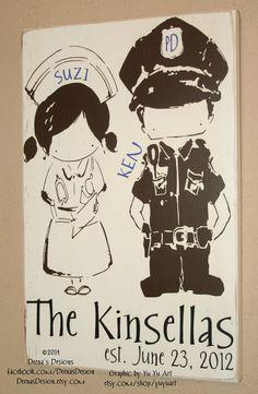 Law Enforcement Sign Police Sign Nurse Sign by DeenasDesign, $50.00