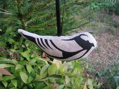 Printed Hanging Bird Christmas Decoration £5.00