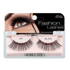 Ardell Fashion 119  - Color Black - Strip Glamour Style Eyelashes
