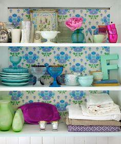 lovely cupboard   (from Homespun Style by Selina Lake; photo by Debi Treloar)