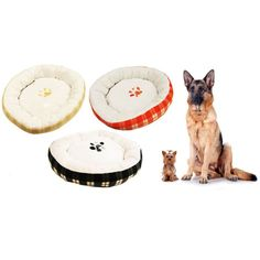 Home Innovations Bolster Dog Bed with Paw Prints - Assorted Colors