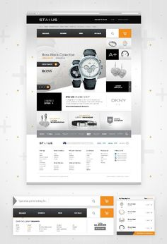 #Ecommerce #webdesign for watches and accessories