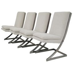 Outdoor Chairs, Outdoor Furniture, Outdoor Decor, Milo Baughman, Dining Room Chairs, Sun Lounger, Contemporary Design, Chrome, Modern