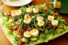 Cobb Salad, Food And Drink, Cooking Recipes, Keto, Chicken, Drinks, Eggs, Drinking, Beverages