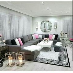 45 neutral living room ideas earthy gray living rooms to copy 30 - My best home decor list Glam Living Room, Living Room Decor Cozy, Home Decor Bedroom, Home And Living, Modern Living, Small Living, Earthy Home Decor, Luxury Living, Living Room Designs