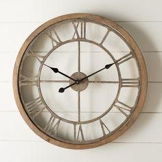 Found it at Wayfair - Natural Wood Wall Clock