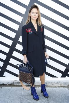 Miroslava Duma - Louis Vuitton Spring 2017 Ready-to-Wear Front Row Celebrity Photos - Vogue