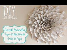 Como hacer una Dalia de Papel / Paper Dahlia Wreath- Mother's Day Edition ✿ - YouTube