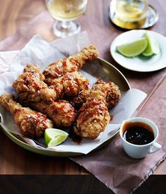 Southern fried chicken with smoky maple caramel :: Gourmet Traveller