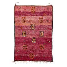 """Vintage Moroccan Wool Rug - 6'4""""x9'3"""""""