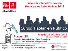 Valencia, 25 octubre 2014: Panel Formación 2015 - Curso Hablar en Público | www.escolaernestlluch.es