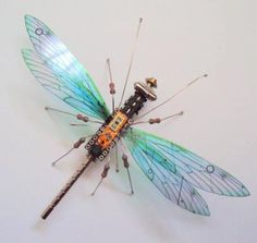 Recycling to Create Art - Computer Component Bugs | Permaculture Magazine
