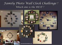 Family Photo Wall Clock Home Ideas Pinterest Clock