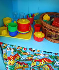 Turn an old cabinet into an Outdoor Play Kitchen