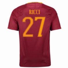 16-17 Roma Home #27 Ricci Cheap Replica Jersey [G00831]