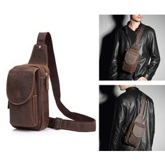 Sale 19% (79.99$) - Real Leather Chest Bag High Quality Retro Casual Crossbody Bag For Men