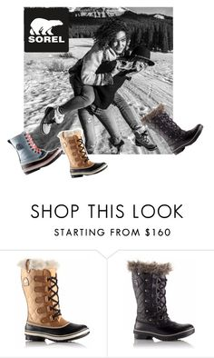 """""""Introducing the 2015 Winter Collection from SOREL: Contest Entry"""" by deborah-strozier ❤ liked on Polyvore featuring mode et SOREL"""