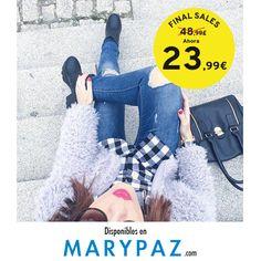 Nos encanta este #lookcasual para este #lunes !!! Emoticón wink ►►► FINAL SALES FROM 7,99 € Aprovéchate de las REBAJAS de MARYPAZ desde 7,99 € en muchos de nuestros artículos en TIENDA y ONLINE www.marypaz.com #shoelfie #rebajasmarypaz   Compra ya este BOTÍN DE TACÓN Y PLATAFORMA REBAJADO ► http://www.marypaz.com/tienda-online/botin-de-tacon-y-plataforma-con-cremalleras-53161.html?sku=72858-35