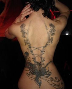 Girl Tattoo. Sorta what i want but more girly with pink.