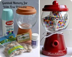 gumball jar for candy bar