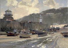 Trevor Chamberlain - Harbour Light, St. Ives (oil on canvas)