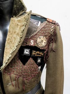 the Ringmaster coat, details custom made for the Vespertine Circus - Gibbous Fashions Steampunk Costume, Steampunk Clothing, Steampunk Fashion, Steampunk Dress, Quirky Fashion, Diy Fashion, Fashion Design, Post Apocalyptic Fashion, Apocalyptic Clothing