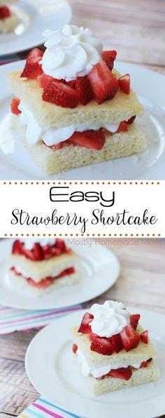 Strawberry Shortcake Easy Strawberry Shortcake Recipe - my family's favorite summer dessert!Easy Strawberry Shortcake Recipe - my family's favorite summer dessert! Shortcake Recipe Easy, Homemade Strawberry Shortcake, Food Cakes, Cupcake Cakes, Cupcakes, Muffin Cupcake, Köstliche Desserts, Delicious Desserts, Awesome Desserts