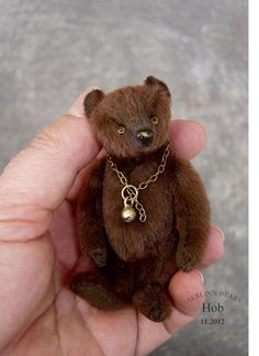 Aerlinn Bears — Hob, Miniature Brown Bear from Aerlinn Bears
