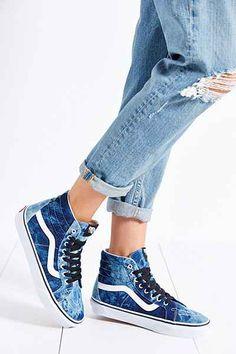 73d5a4a7aee434 Vans Sk8-Hi Denim Reissue Sneaker - Urban Outfitters