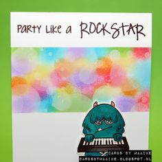 Cards by Maaike: Simon Says Stamp Wednesday Challenge Guestdesigner: Party!, with video