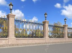 Fence Gate Design, Modern Fence Design, Staircase Railings, Modern Staircase, Metal Garden Fencing, Compound Wall, Boundary Walls, Wrought Iron Fences, Villa