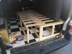 Camping Bed - Self build side bench bed - VW Forum - VW Forum Vw Lt Camper, Camper Beds, Diy Camper, Camper Van, Camping Diy, Truck Camping, Van Camping, Camping Hacks, Beach Camping