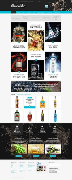 Beverage Online Store #PrestaShop #template. #themes #business #responsive #webshop