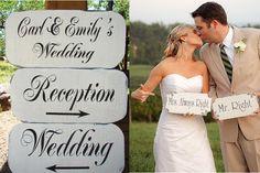 wedding signs 1 Colorado Wedding Trends | Wedding Signage