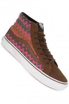 5b6f007dceebd7 Vans Sk8-Hi Slim Shoes women (zig zag dachshund true white)