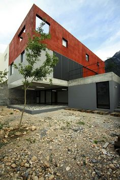 casa de tres plataformas