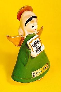 034-Bless-Mom-034-Green-Napco-Angel-Figurine-Mother-039-s-Day-May-So-Sweet-Very-Rare