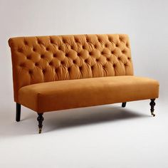 One of my favorite discoveries at WorldMarket.com: Goldenrod Harper Banquette