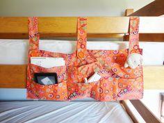 Bunk Bed Pocket Caddy; Dorm Room Organization Pocket Caddy