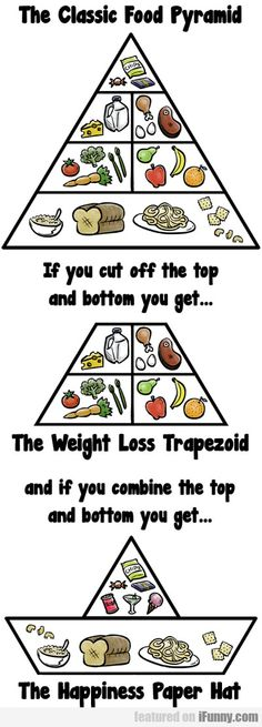 The Classic Food Pyramid... sad but true